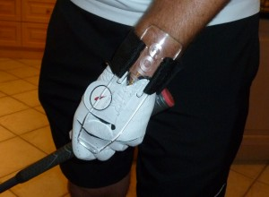 GOLFSTR has 3 New Training Aid Features when mounted on your wrist and curving over your knuckles.