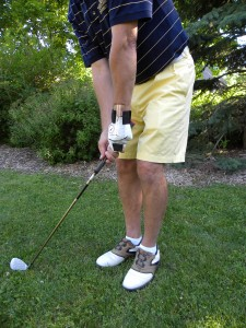 GOLFSTR used for Flat Wrist Chipping practice.