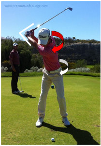 Flexibility, Smooth Transition and Wrist Release in the bottom half of you swing will generate speed and distance.
