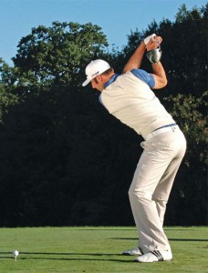 Dustin Johnson with Straight Arm and Straight Shot and a lot of power.