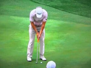 Jordan Spieth using shoulder rock and straight leading wrist for putting excellence to win the US Open.