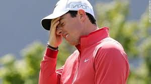 Rory shooting 80 on the first day of the Irish Open . . .  and he was the host.  Not Happy.